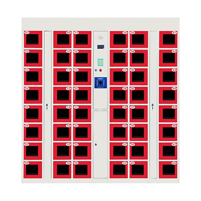 48门电子存包柜红色