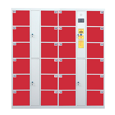 24门电子存包柜红色-