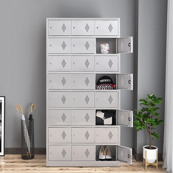不锈钢二十四门更衣柜