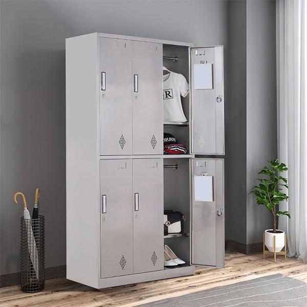 不锈钢六门更衣柜