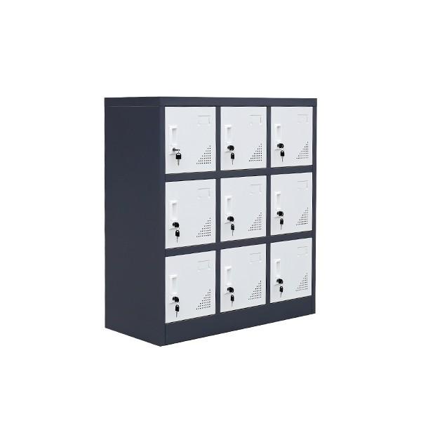 钢制储物柜,多门储物柜,品尚小九门